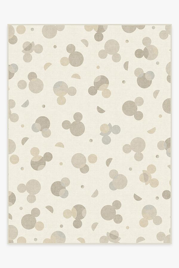 Washable Rug Cover | Mickey Polka Dots Natural Rug | Stain-Resistant | Ruggable | 9x12