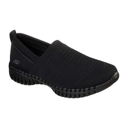 Skechers Go Walk Smart Wise Womens Walking Shoes, 6 1/2 Medium, Black