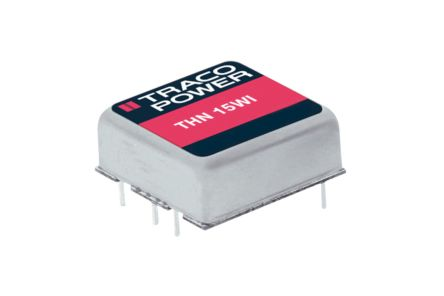 TRACOPOWER THN 15WI 15W Isolated DC-DC Converter Through Hole, Voltage in 9 → 36 V dc, Voltage out 15V dc