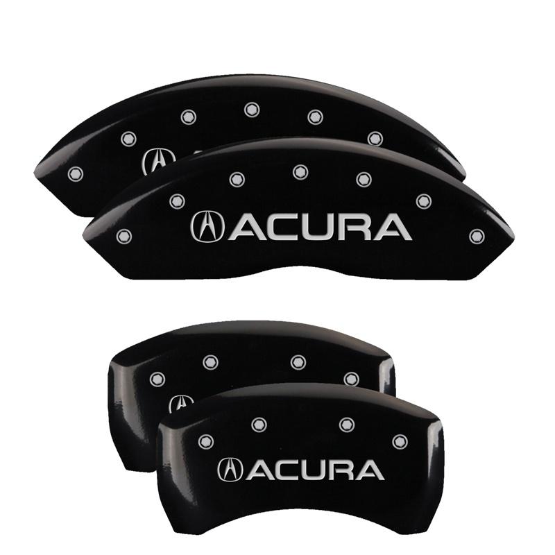 MGP Caliper Covers 39024SACUBK Set of 4: Black finish, Silver Acura / Acura Acura RDX 2019-2020