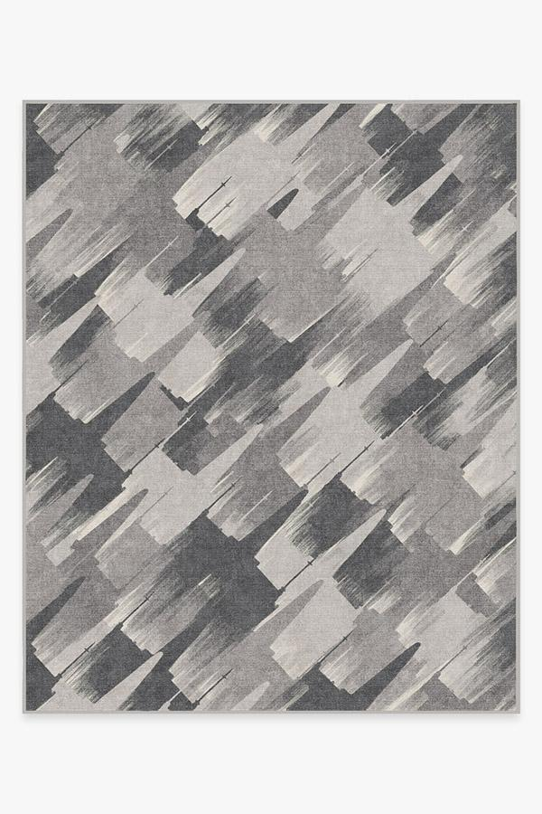 Washable Rug Cover & Pad | Rogue Squadron Grey Rug | Stain-Resistant | Ruggable | 8'x10'