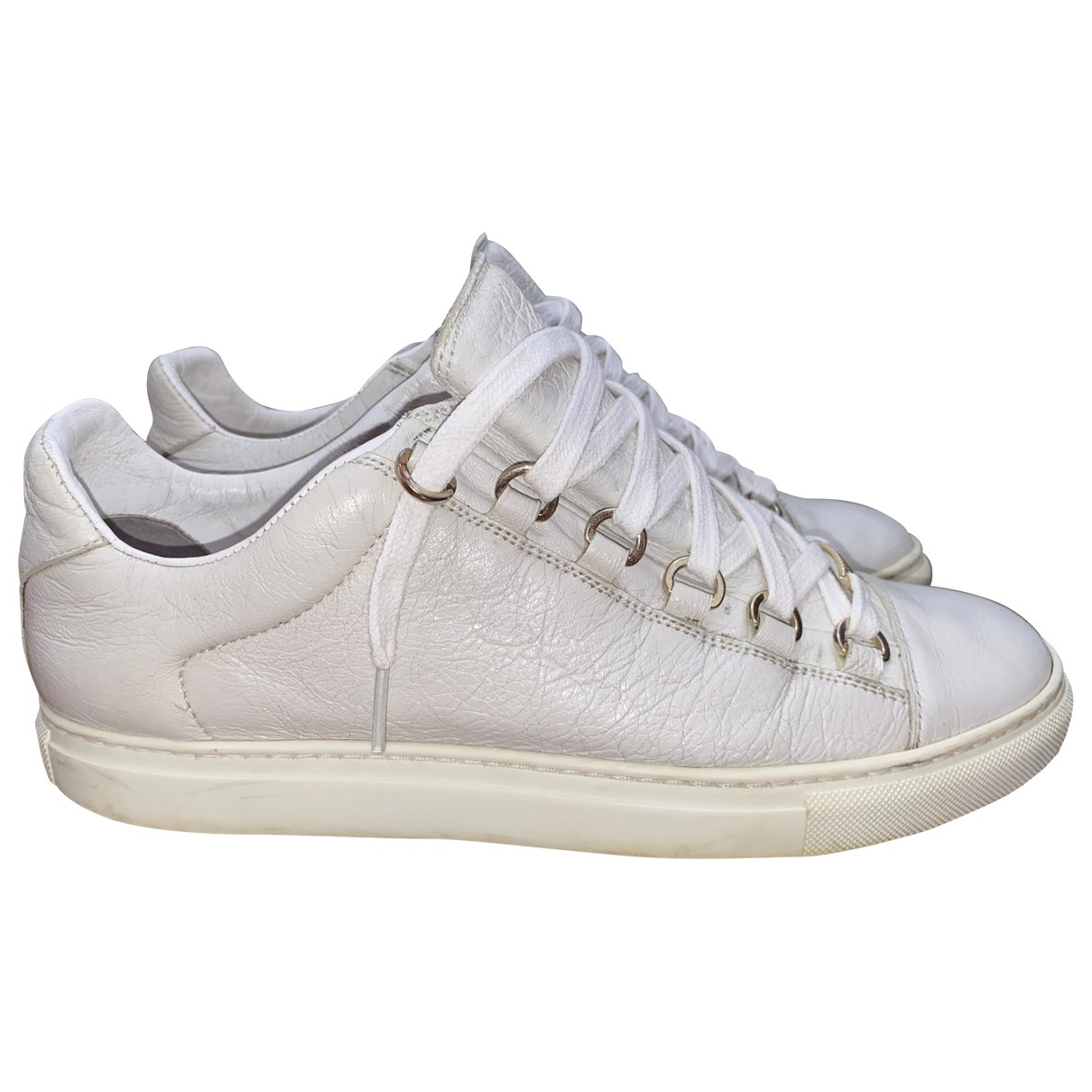 Balenciaga Arena White Leather Trainers for Women 40 EU