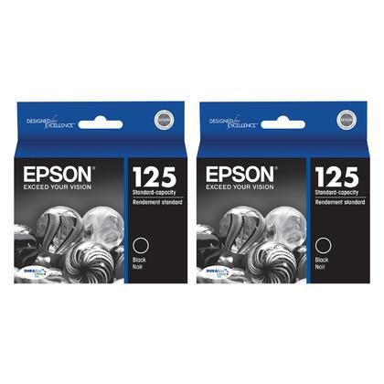 Epson 125 T125120 cartouche d'encre originale noire paquet double