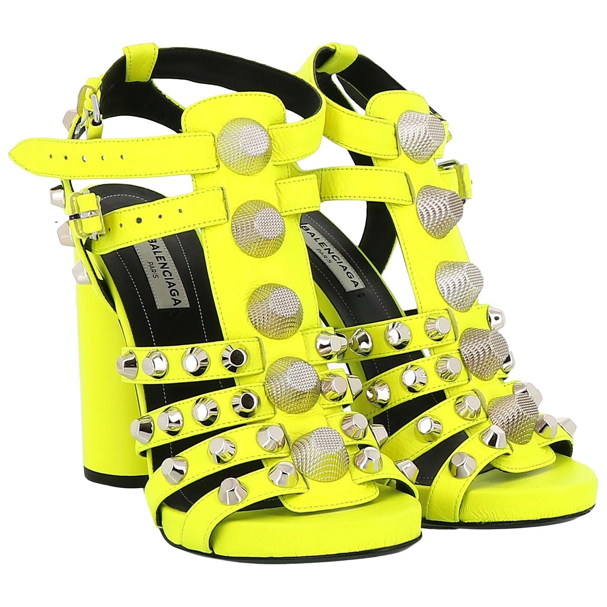 Balenciaga - Sandales   pour femme en cuir - jaune