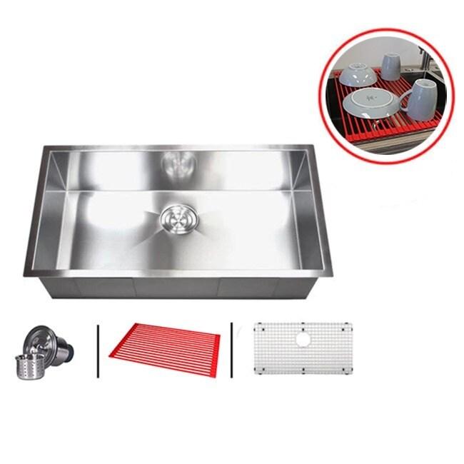 30-inch Single Bowl Undermount Zero Radius Kitchen Sink Combo (30