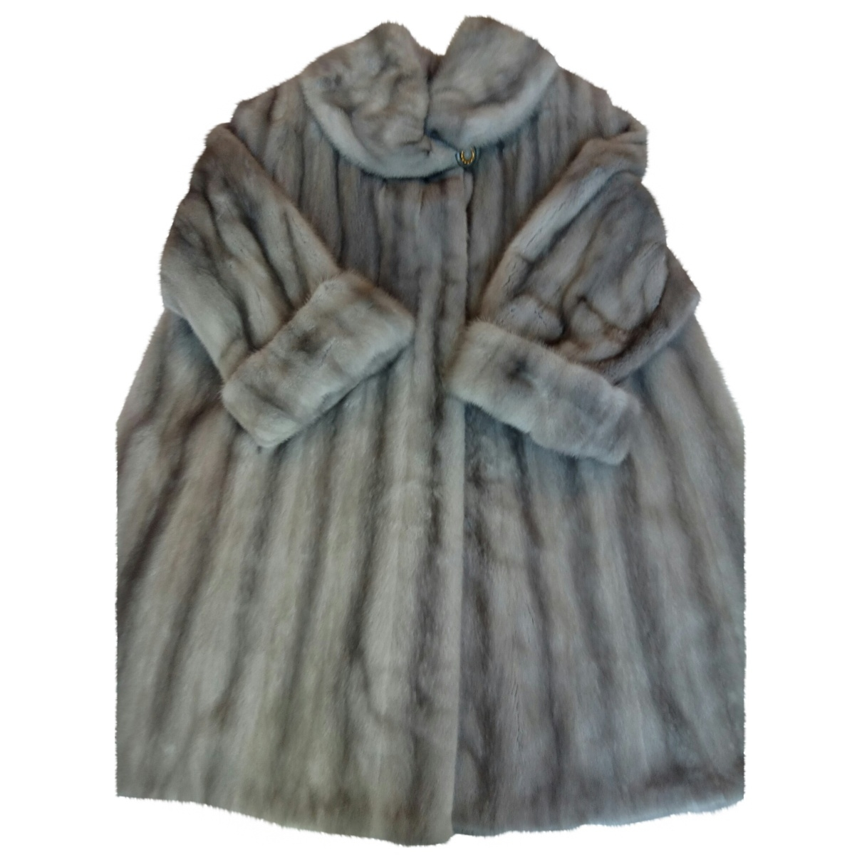 Non Signé / Unsigned \N Grey Mink coat for Women 42 FR
