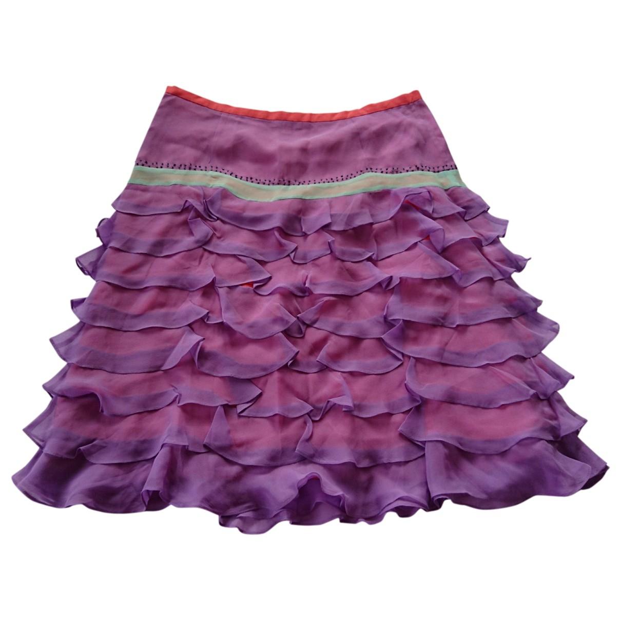 American Retro - Jupe   pour femme en soie - violet