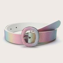 Glitter Metal Buckle Belt