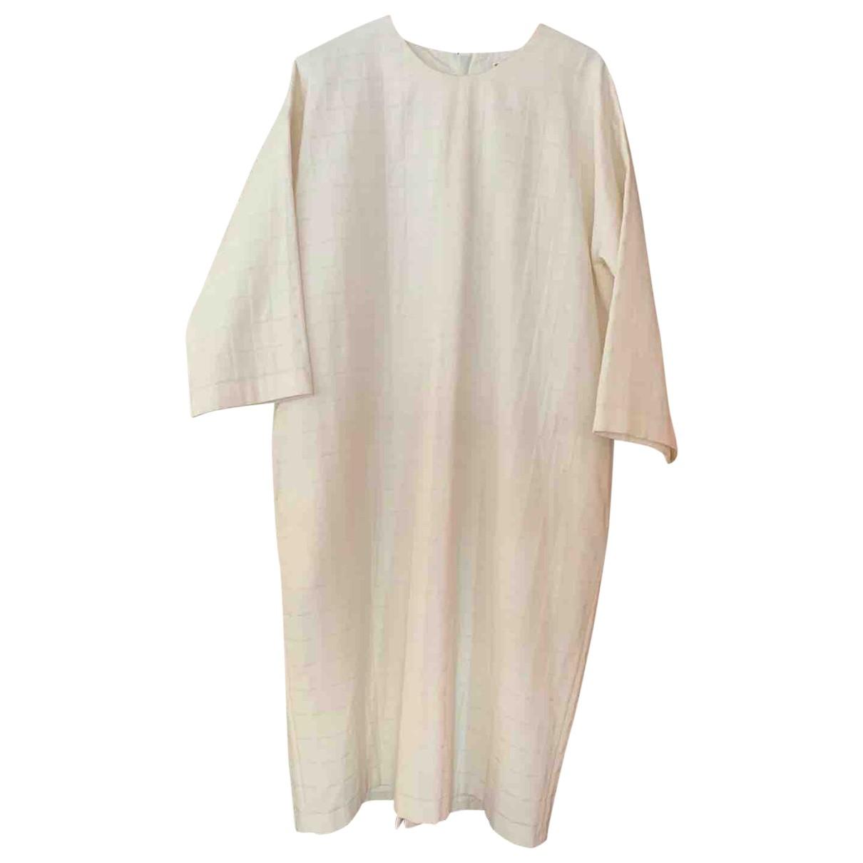 Samuji \N Kleid in  Weiss Polyester