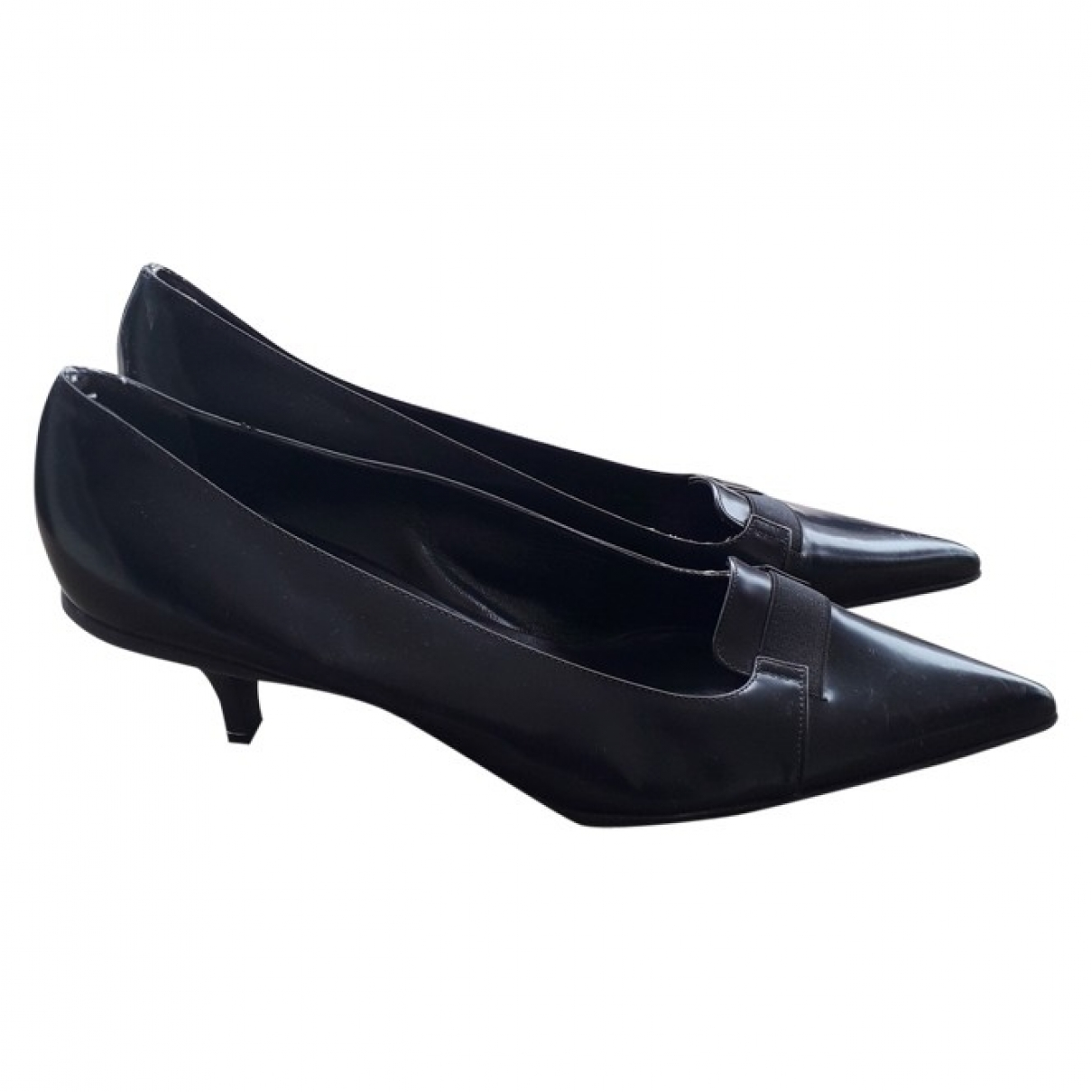 Prada \N Black Leather Heels for Women 41 IT