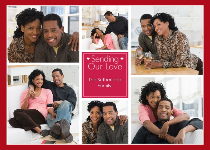 Just Because 5x7 Folded Cards, Premium Cardstock 120lb, Card & Stationery -Sending Our Love