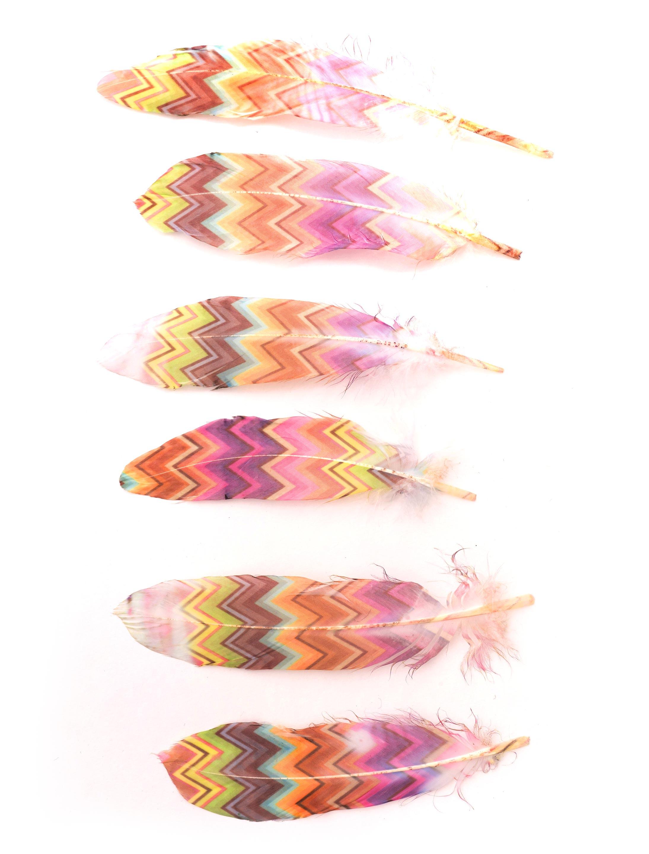 Kostuemzubehor Indianerfeder bunt 3 Stk. Farbe: multicolor bzw. bunt