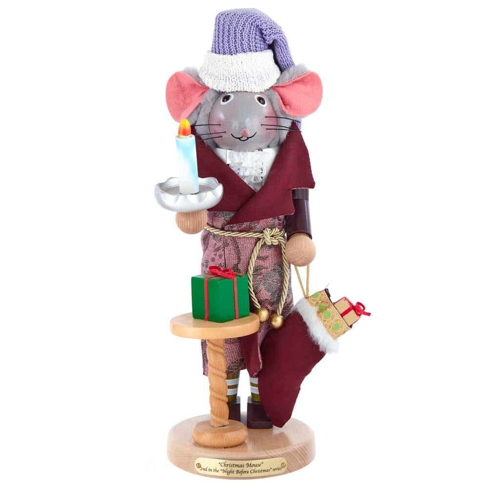 Kurt Adler Steinbach 16-Inch The Night Before Christmas Mouse Nutcracker Signed - 16 (Multi-Color)