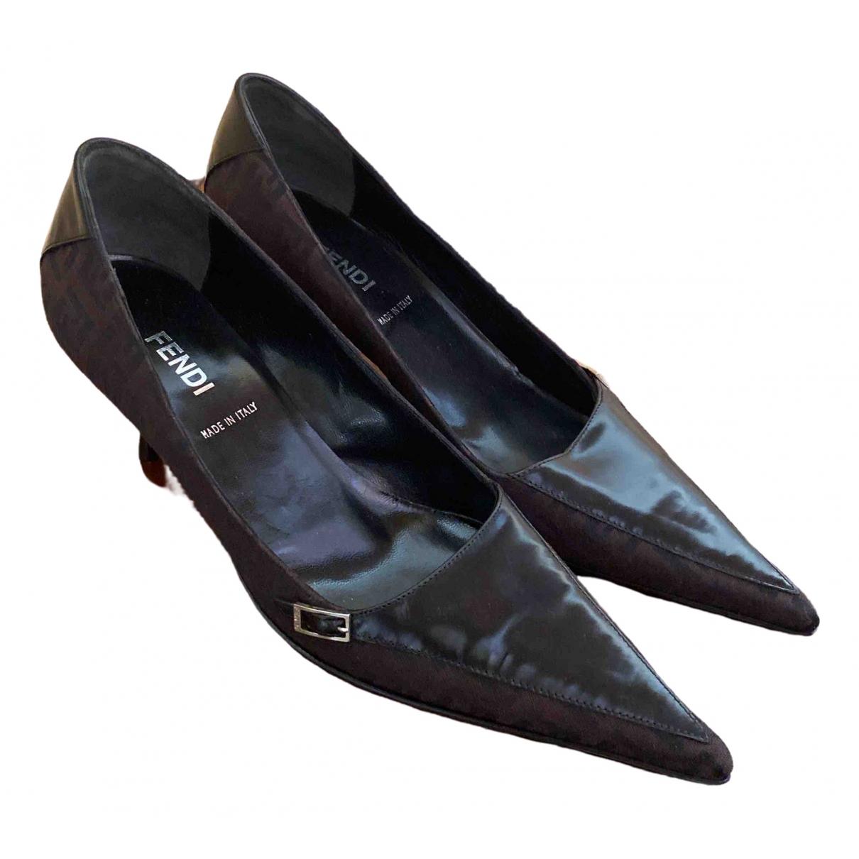 Fendi - Escarpins   pour femme en toile - noir