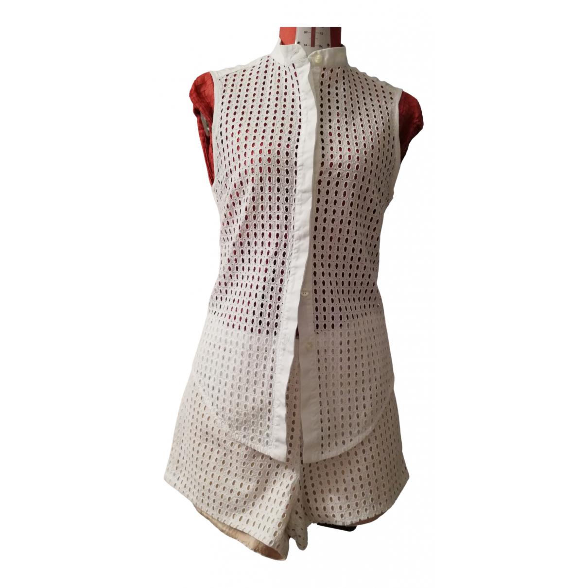 Pinko \N Kleid in  Weiss Baumwolle