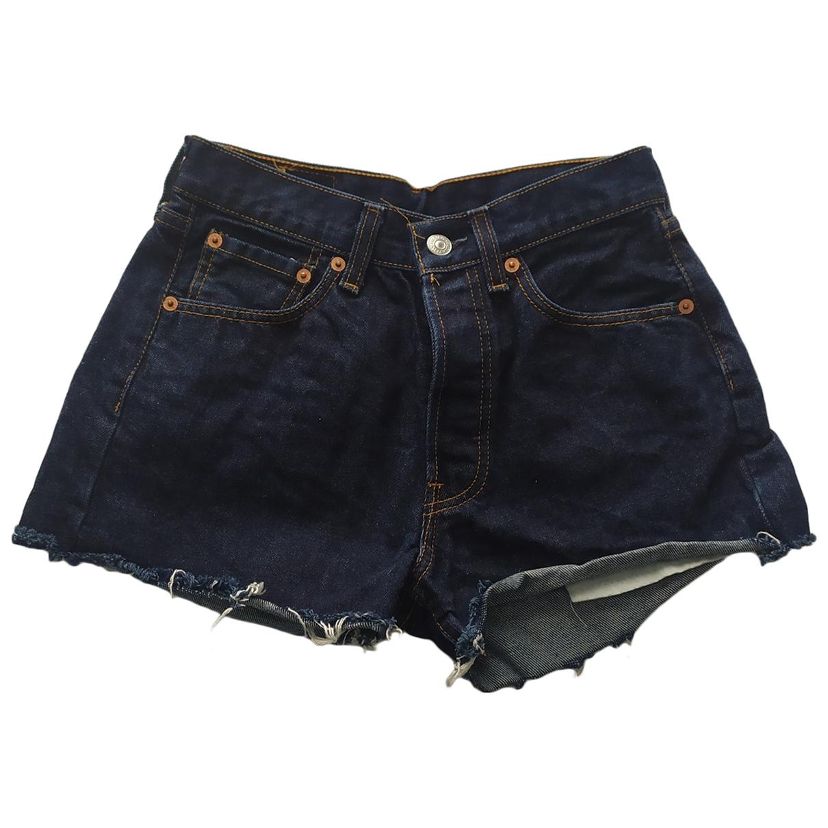 Levi's \N Blue Cotton Shorts for Women 34 FR