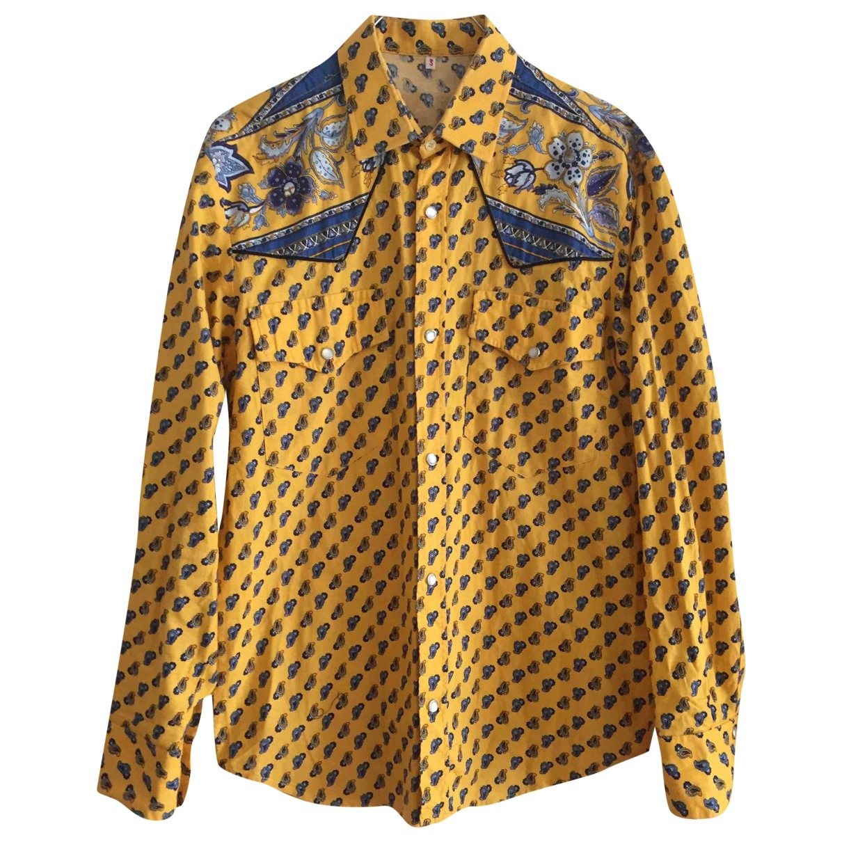 Non Signé / Unsigned \N Yellow Cotton Shirts for Men M International