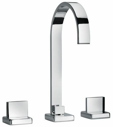 15214-68 Two Lever Handle Widespread Lavatory Faucet With Classic Ribbon Spout  Designer Polished Nickel