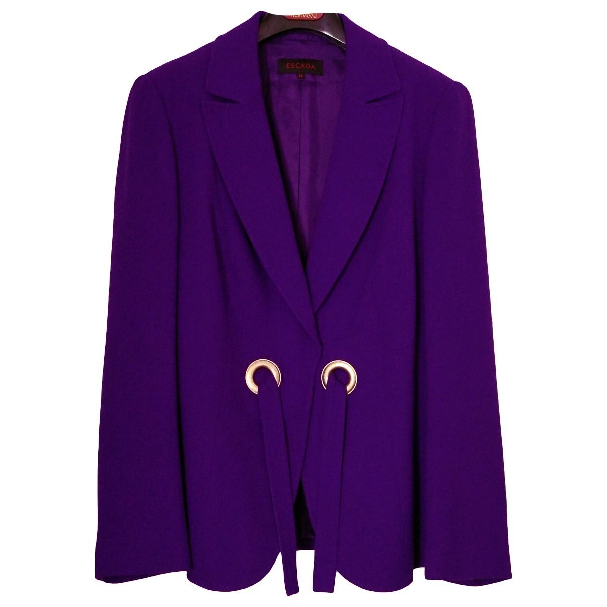 Escada \N Purple Wool jacket for Women 46 FR