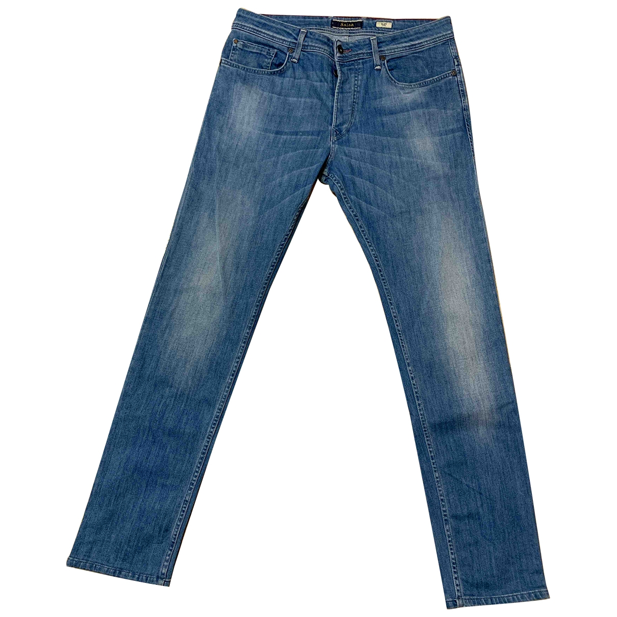 Non Signé / Unsigned \N Blue Cotton - elasthane Jeans for Men 40 FR