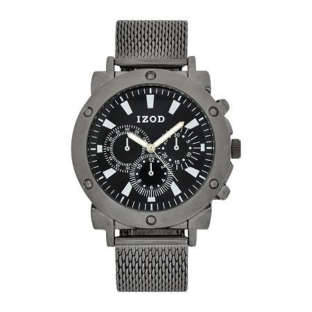 IZOD Mens Black Bracelet Watch-Izo5078jc, One Size , No Color Family