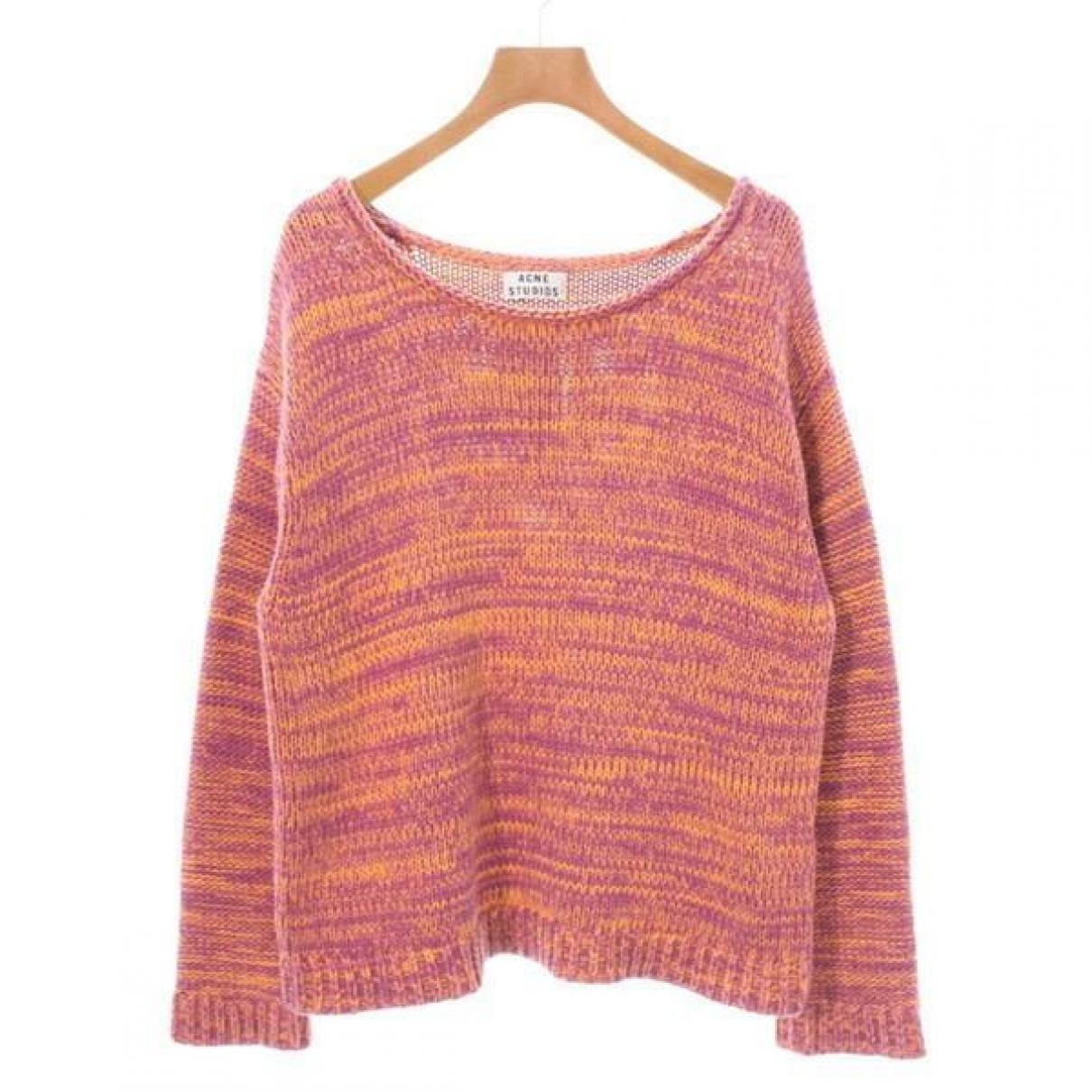 Acne Studios - Pull   pour femme en coton - orange
