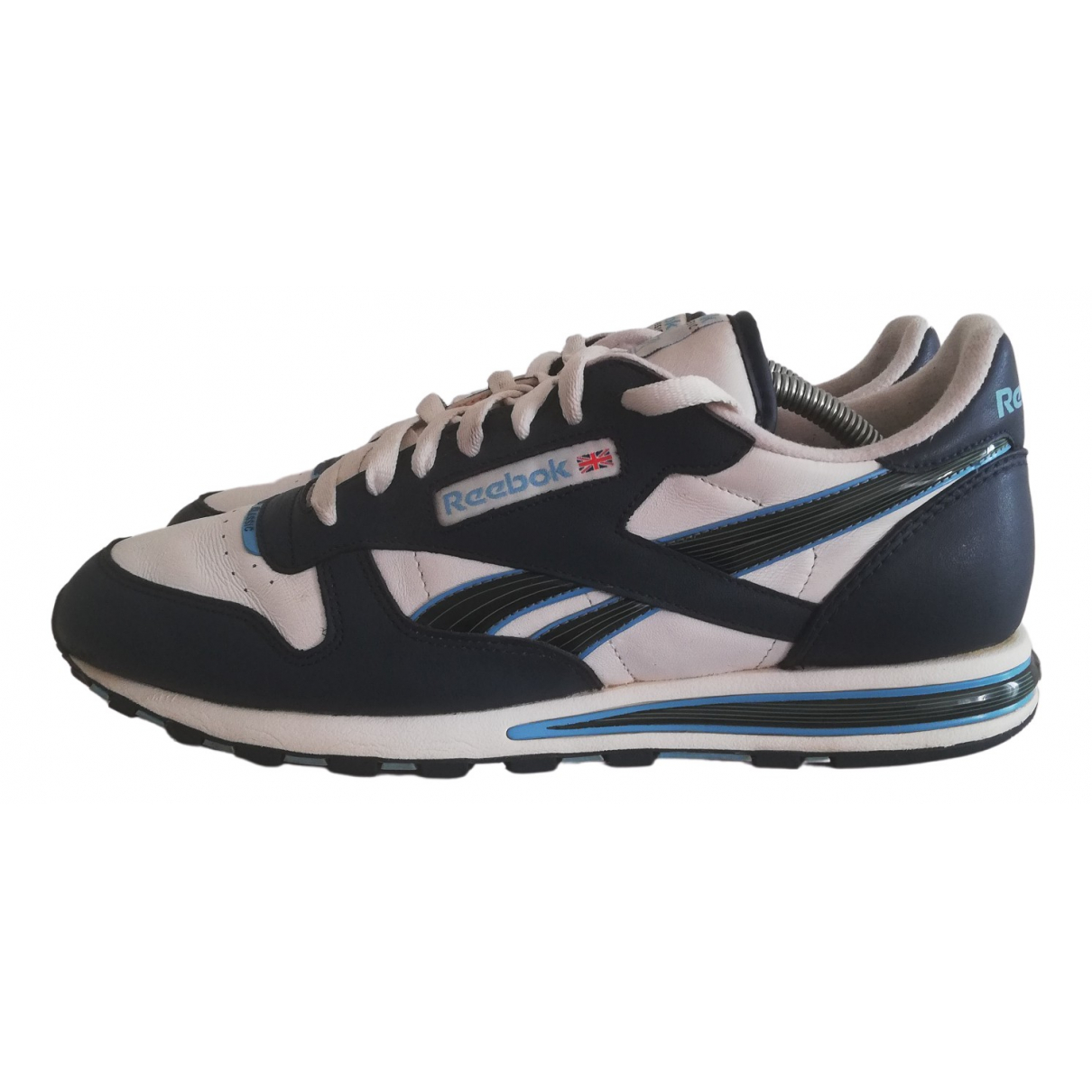 Reebok \N Navy Leather Trainers for Men 44 EU