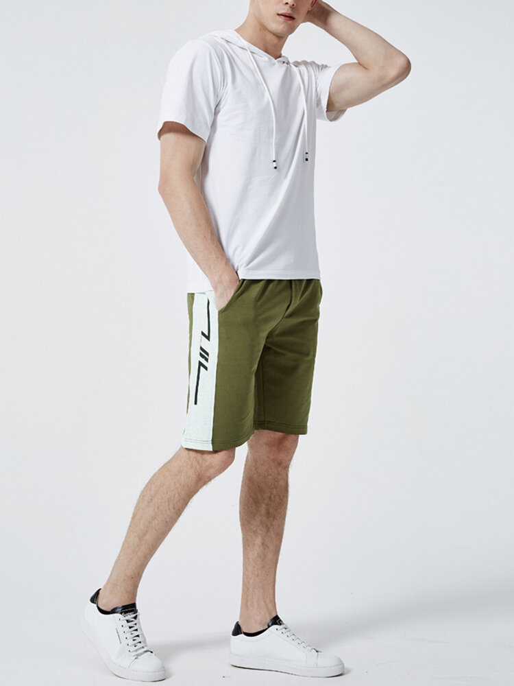 Men Hooded Loungewear Sets Comfortable Shorts Sleeve Two-Pieces Clothing for Men