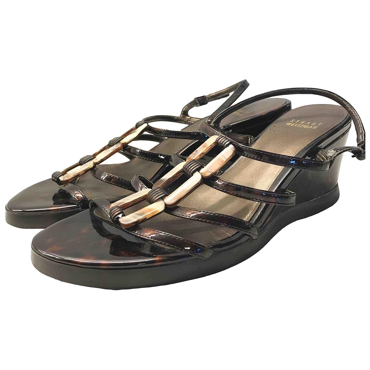 Stuart Weitzman \N Brown Leather Sandals for Women 9 US