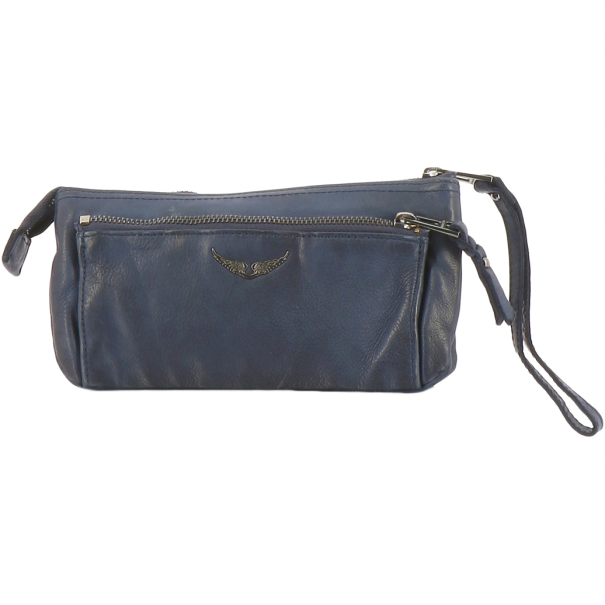 Zadig & Voltaire \N Blue Leather Clutch bag for Women \N