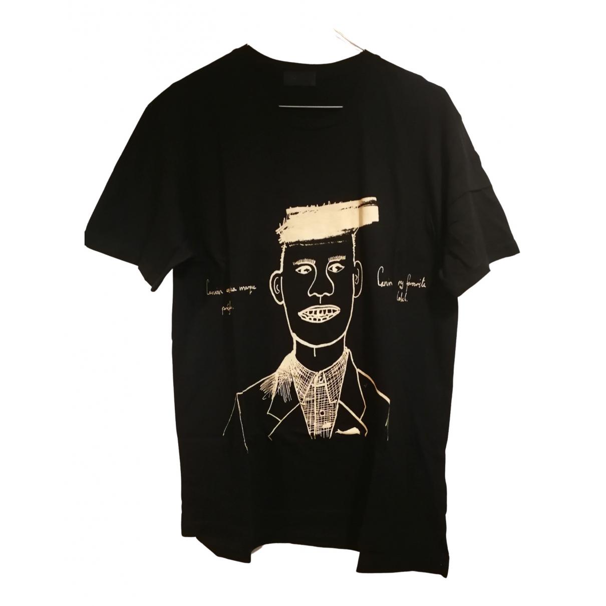 Lanvin - Tee shirts   pour homme en coton - noir