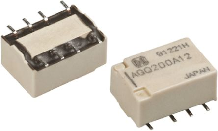Panasonic DPDT Surface Mount Latching Relay - 1 A, 12V dc For Use In Signal Applications