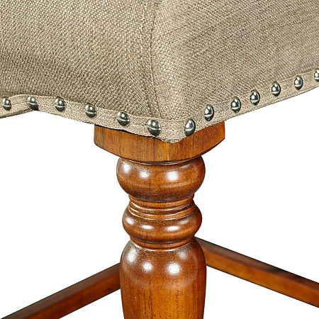 Willow Nailhead Trim Upholstered Counter Stool, One Size , Brown