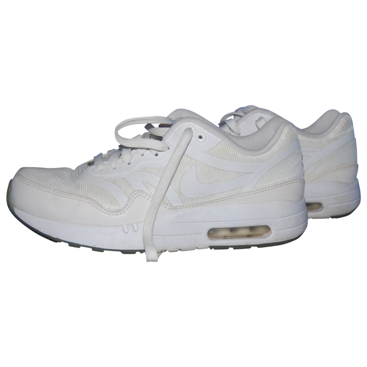 Nike Air Max 1 White Cloth Trainers for Women 7.5 US