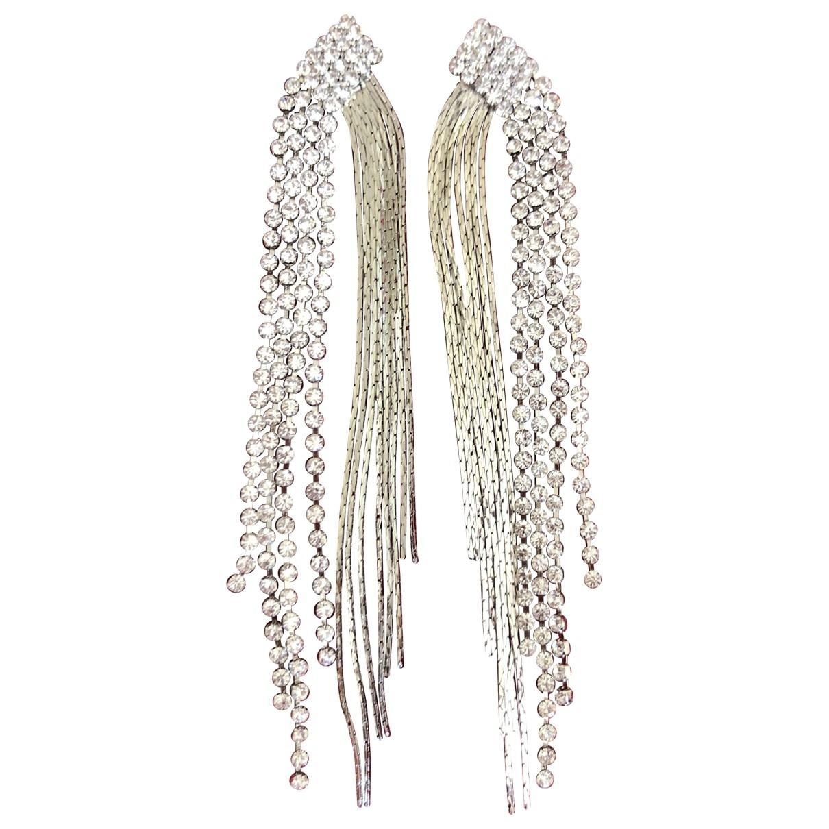 - Boucles doreilles   pour femme en acier - argente