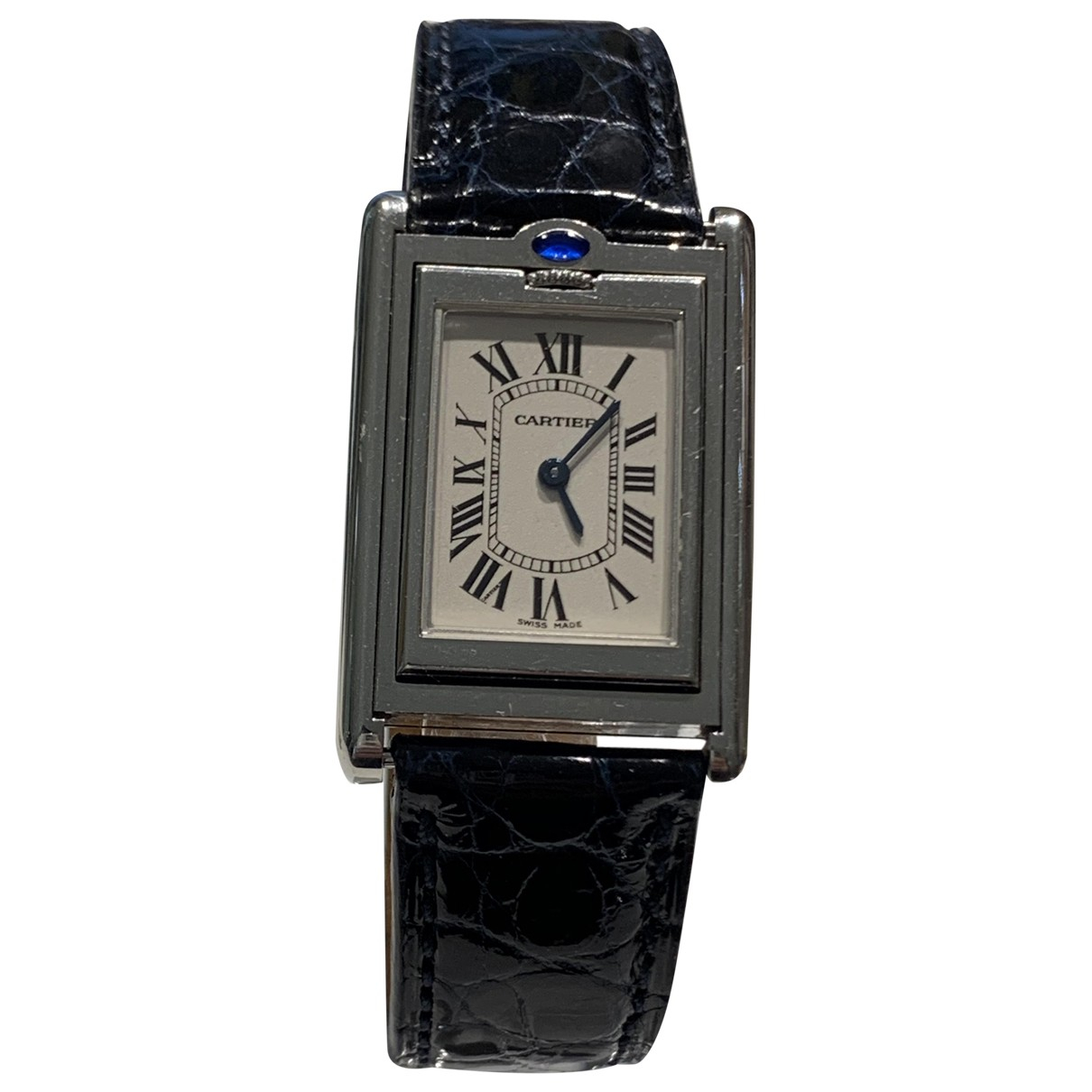 Cartier Tank Basculante Uhr in  Silber Stahl