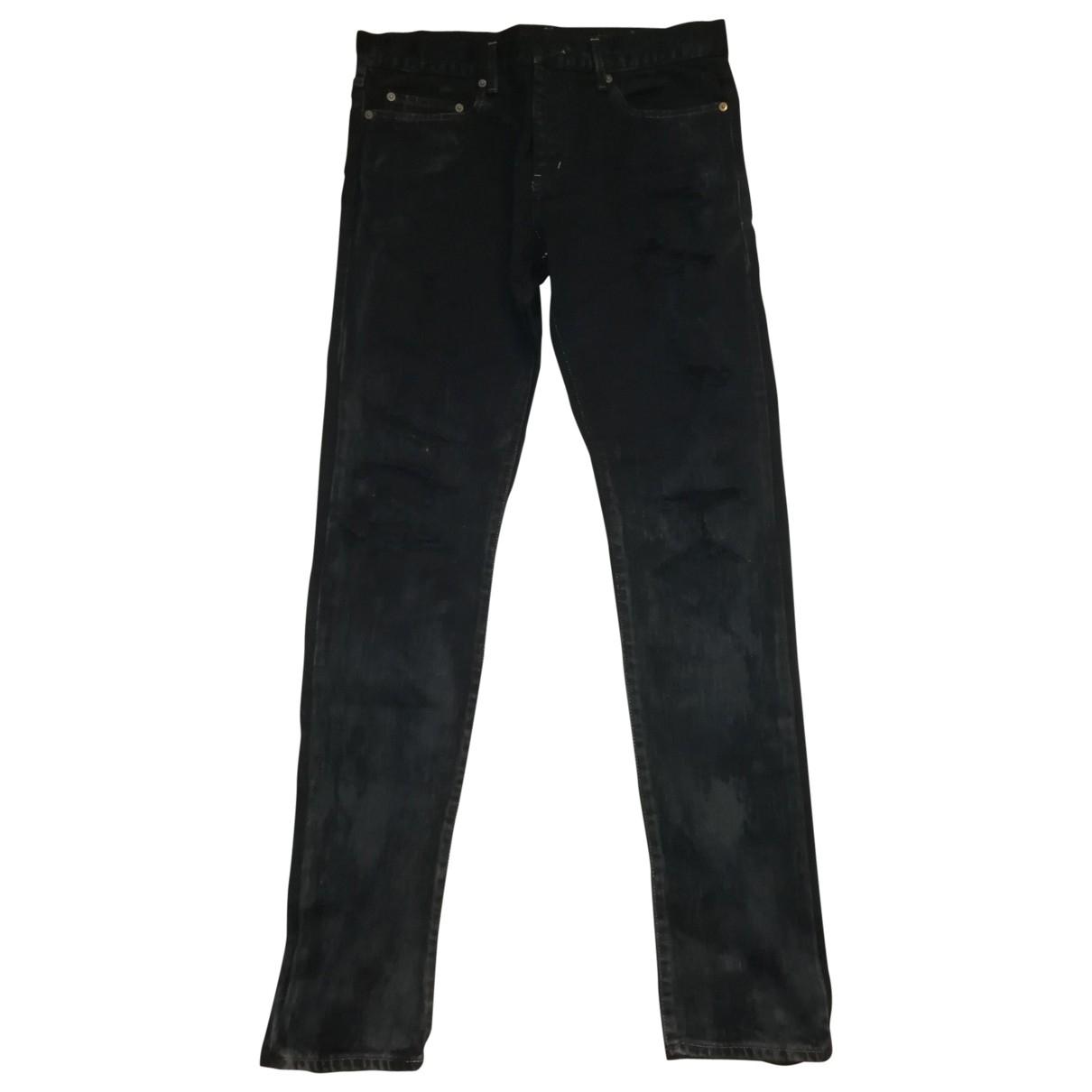Yves Saint Laurent \N Black Cotton - elasthane Jeans for Men 44 FR