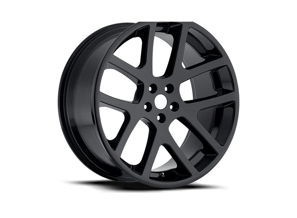 Factory Reproduction Series 64 Wheels 20x9 5x5 +35 HB 71.5 Jeep Viper Gloss Black w/Cap