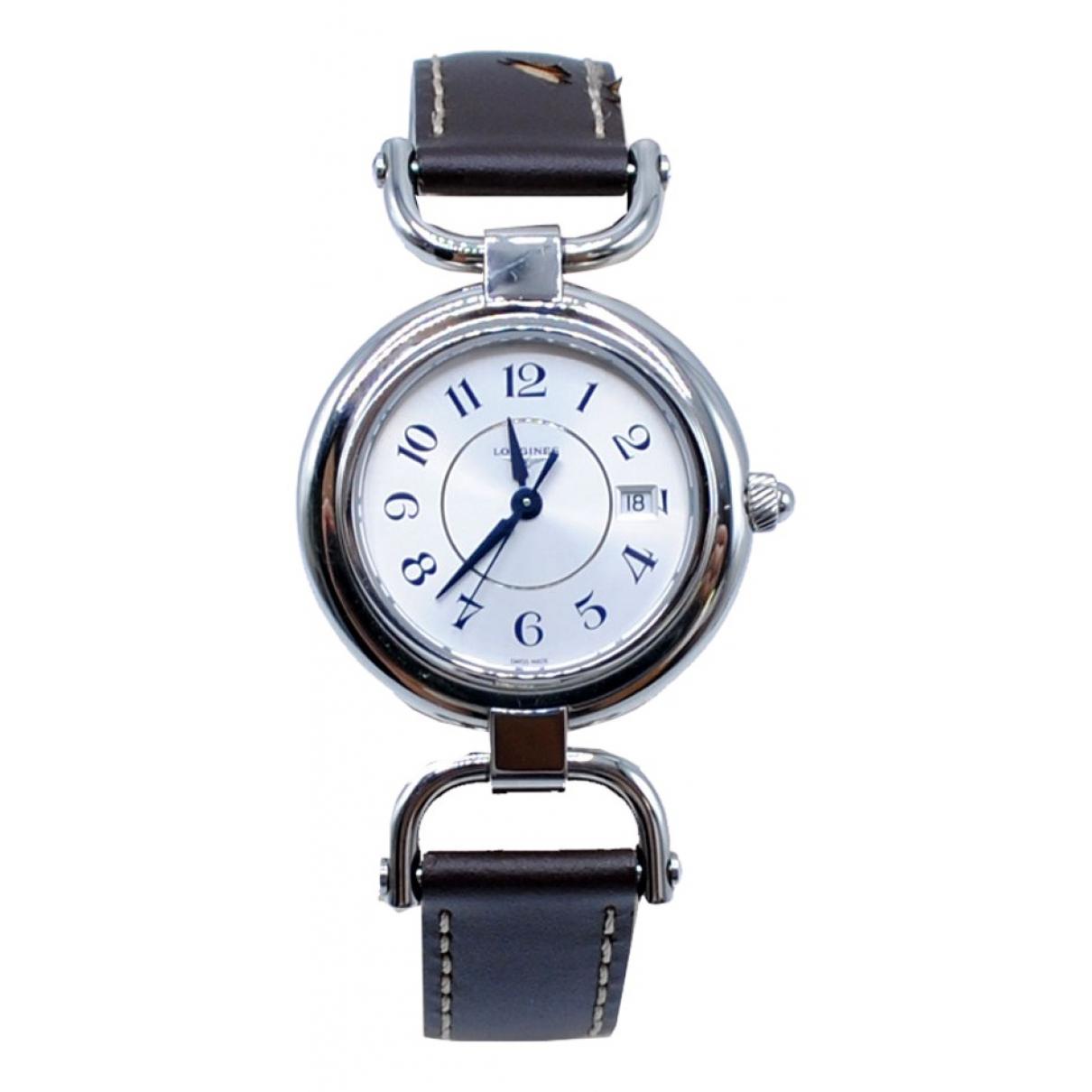 Longines \N Silver Steel watch for Women \N
