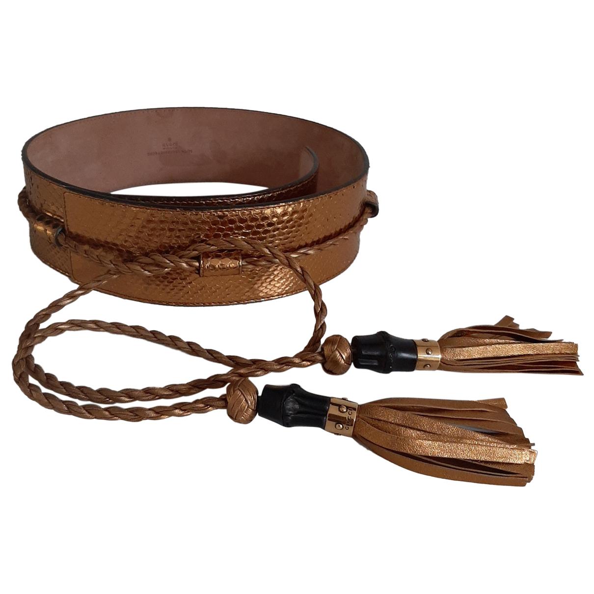 Cinturon de Piton Gucci