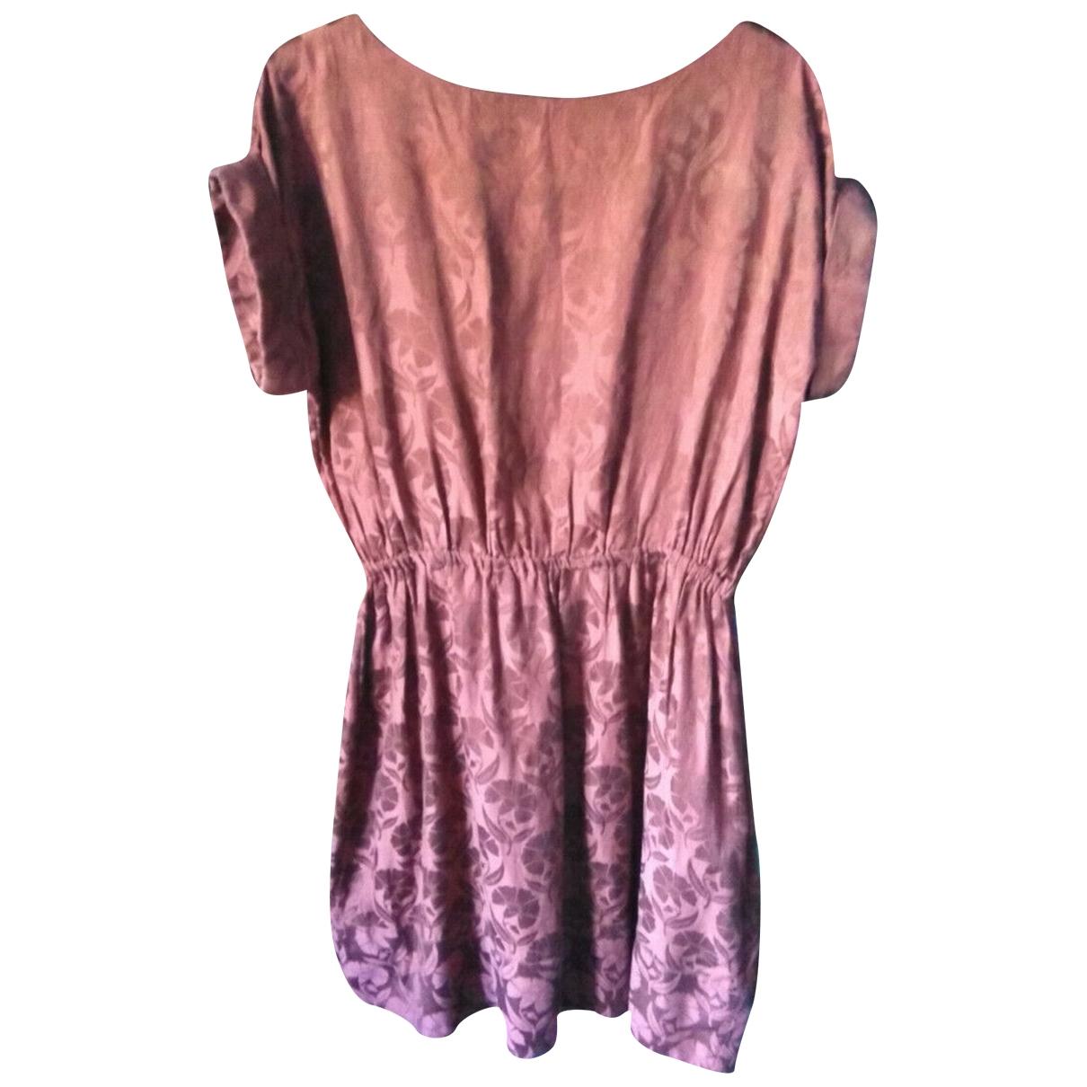 Hobbs N.w.3 - Robe   pour femme en soie - bordeaux