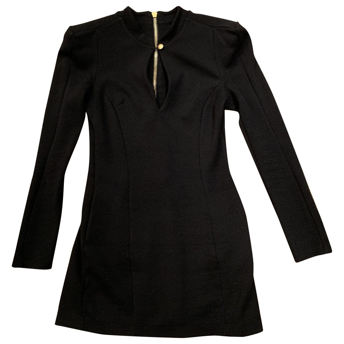 Balmain \N Black Wool dress for Women 36 FR