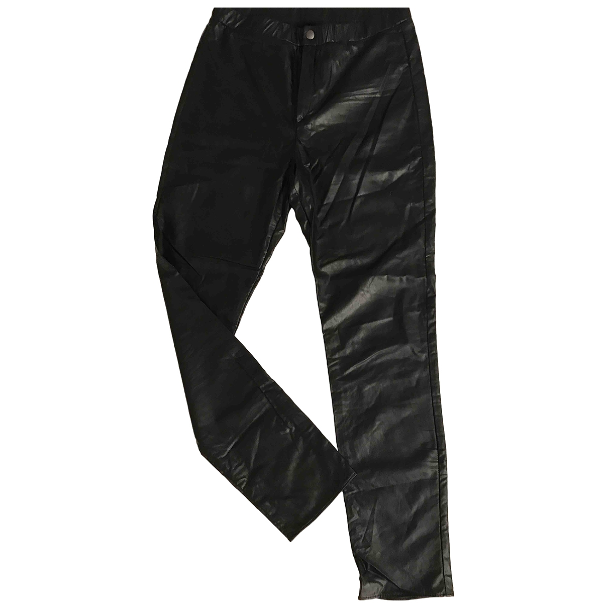 Isabel Marant Etoile \N Black Leather Trousers for Women 36 FR