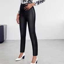 Pantalones ajustados unicolor