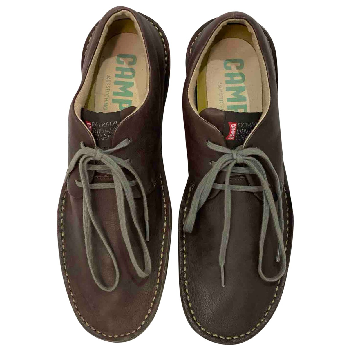 Camper \N Brown Leather Trainers for Men 44 EU