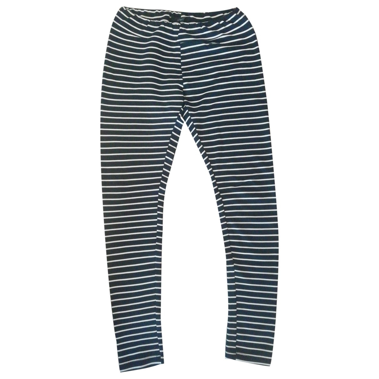Non Signé / Unsigned \N Blue Cotton Trousers for Women S International