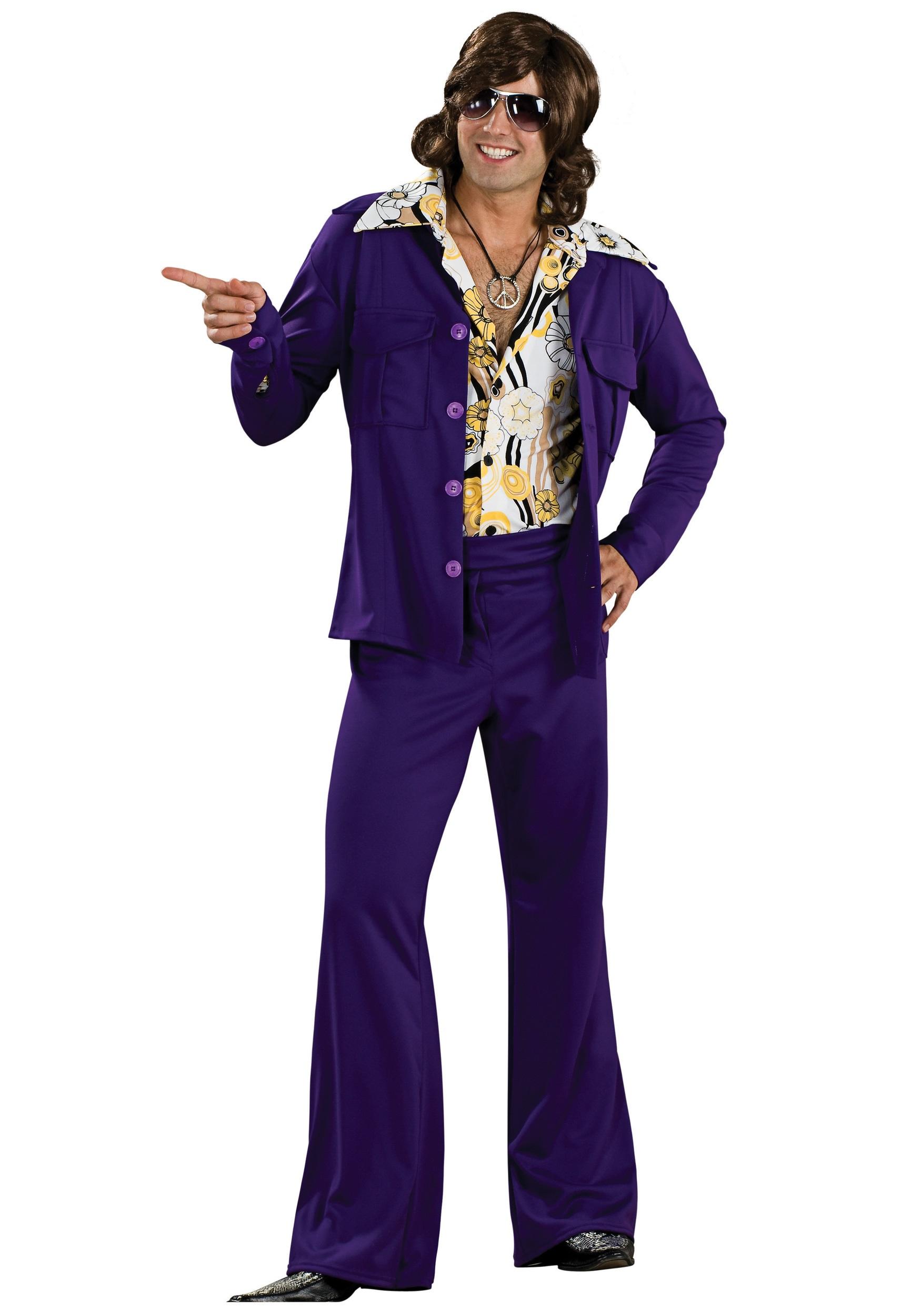 Purple Leisure Suit Costume For Men