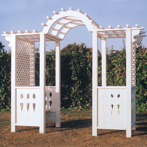Woodworking Project Paper Plan to Build Arbor Settee, Plan No. 753