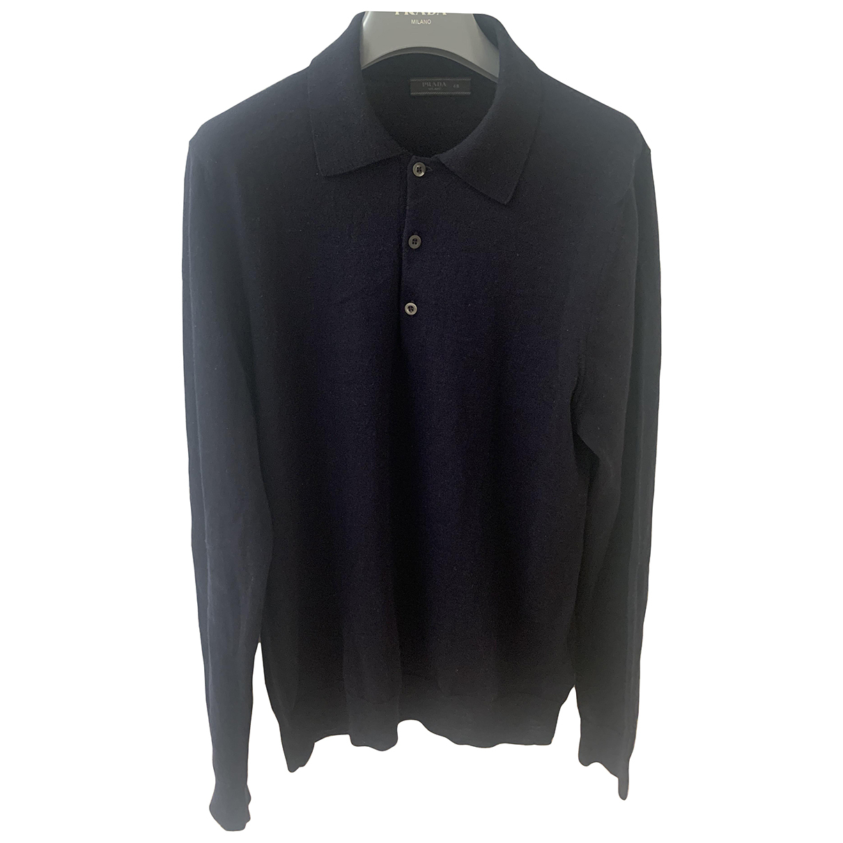 Prada \N Pullover.Westen.Sweatshirts  in  Marine Wolle