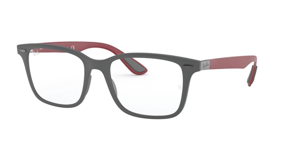 Ray-Ban RX7144 5915 Men's Glasses Grey Size 53 - HSA/FSA Insurance - Blue Light Block Available